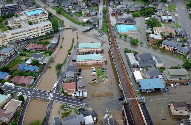 浸水被害報告空撮2